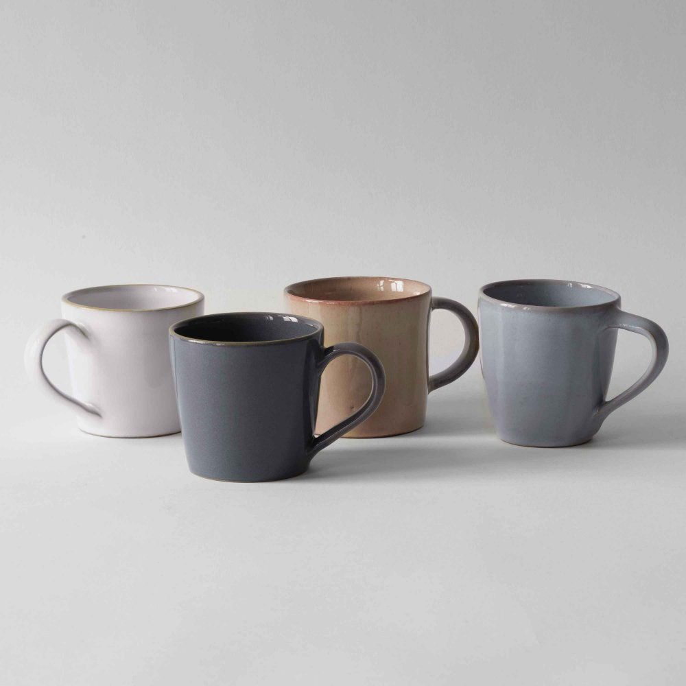 four cups in different colors